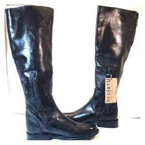 NWB Bed Stu Womens Tess Black Tall Riding Boots